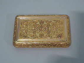Antique 18K Gold Snuff Box - European C 1900