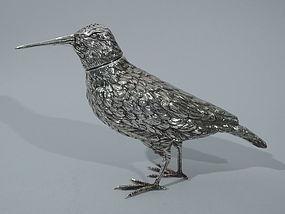 Snipe Spice Box - German Silver Bird C 1900
