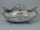 Rococo Centerpiece Bowl - German Silver C 1900
