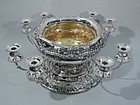 Rare Centerpiece Bowl with Candelabra on Plateau
