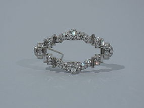 Art Deco Brooch - Platinum and Diamond C 1930