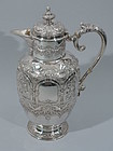 Scottish Sterling Silver Jacobean Wine Decanter 1895