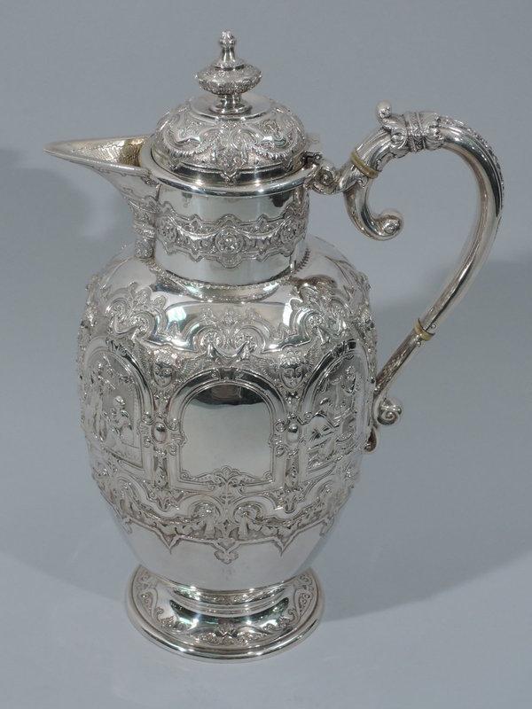 Scottish Sterling Silver Jacobean Wine Decanter 1895