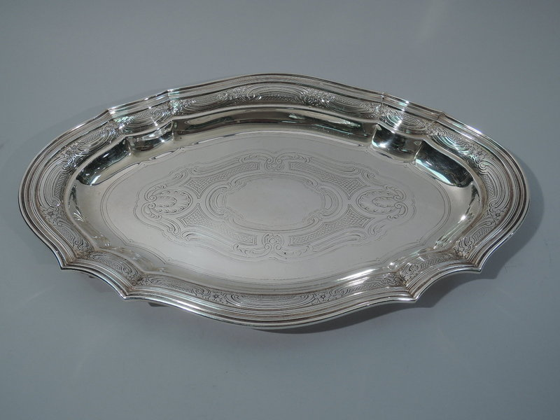 Antique Tiffany Sterling Silver Serving Tray C 1910