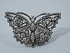 Antique English Diamond Butterfly Brooch C 1880