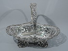 Antique Sterling Silver Flower Basket