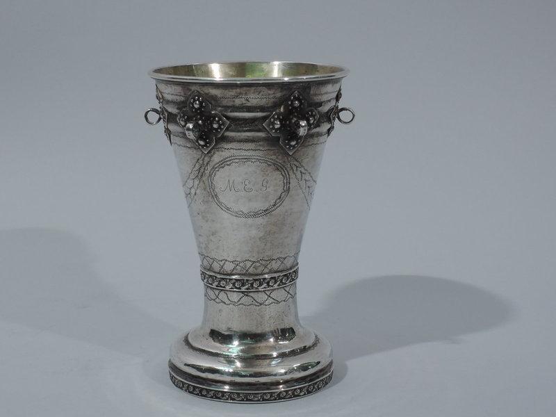 Antique Norwegian Silver Beaker Cup 18th Century