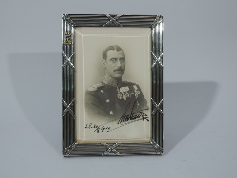 Danish Sterling Silver Frame with King Christian X Portrait