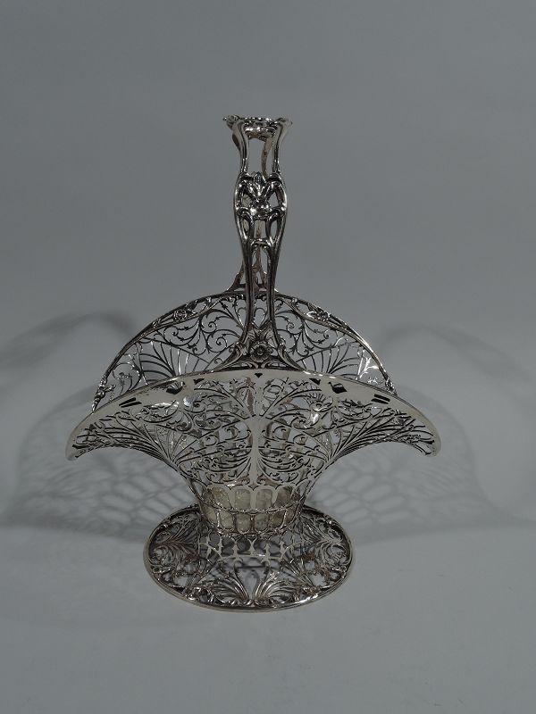 Fancy Sterling Silver Basket by Howard of New York 1905
