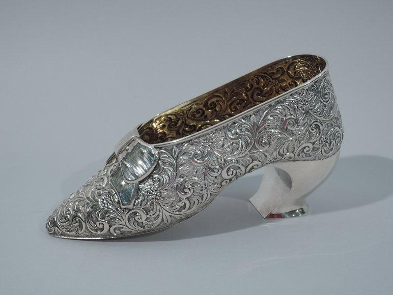 Elegant Lady's Shoe - English Sterling Silver 1913