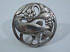 Early Georg Jensen No. 175 Sterling Silver Dove Brooch