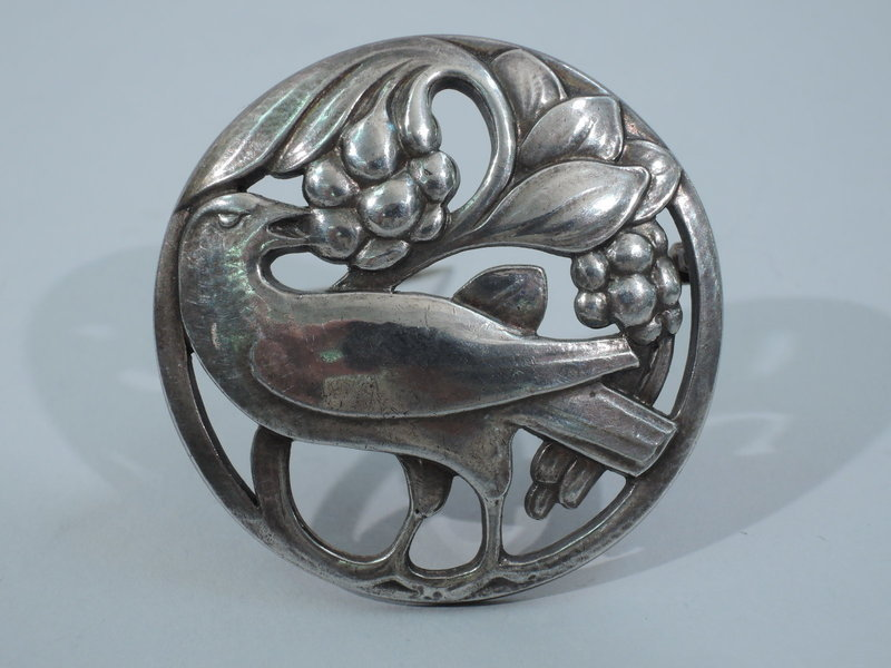Early Georg Jensen No. 175 Sterling Silver Dove Brooch