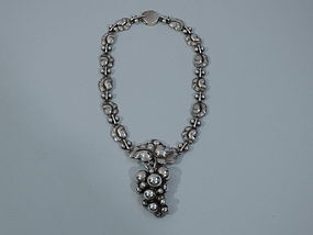 Georg Jensen No. 96 Sterling Silver Grape Necklace