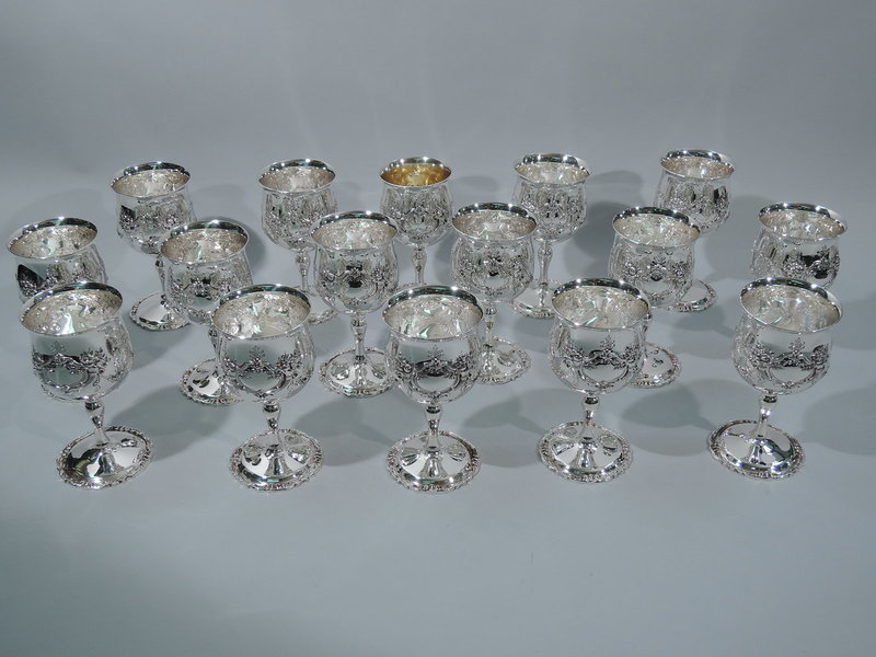 Set of 16 Reed & Barton Francis I Sterling Silver Wine Goblets