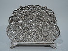 Gilded Age Sterling Silver Letter Rack by Dominick & Haff 1892