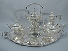Antique Tiffany Sterling Silver Tea and Coffee Set