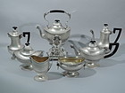 Antique Neoclassical Sterling Silver Coffee & Tea Set by Tiffany