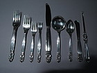 Georg Jensen Acorn Sterling Silver Dinner Service for 12 - 115 Pieces
