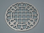 Antique Silver Overlay Trivet with Trellis Design C 1910