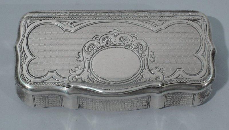 Antique Austrian Rococo Silver Snuffbox C 1865