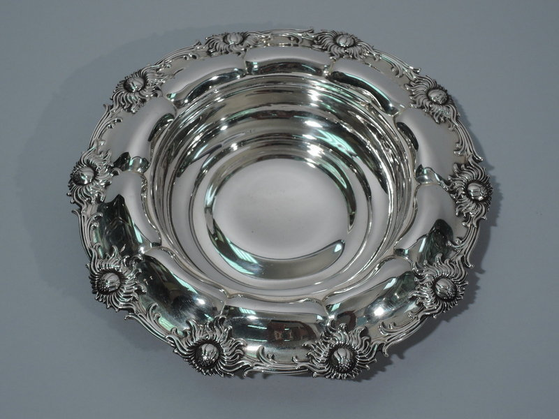 Aesthetic Movement Sterling Silver Bowl with Chrysanthemums