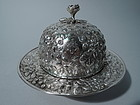 Antique Covered Silver Butter Dish by Kirk of Baltimore C 1880