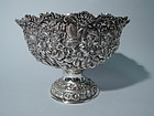 Large Sterling Silver Repousse Centerpiece Bowl by Stieff of Baltimore