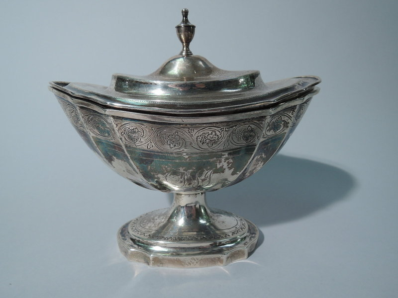 Interesting Neoclassical South American Silver Sugar C 1840