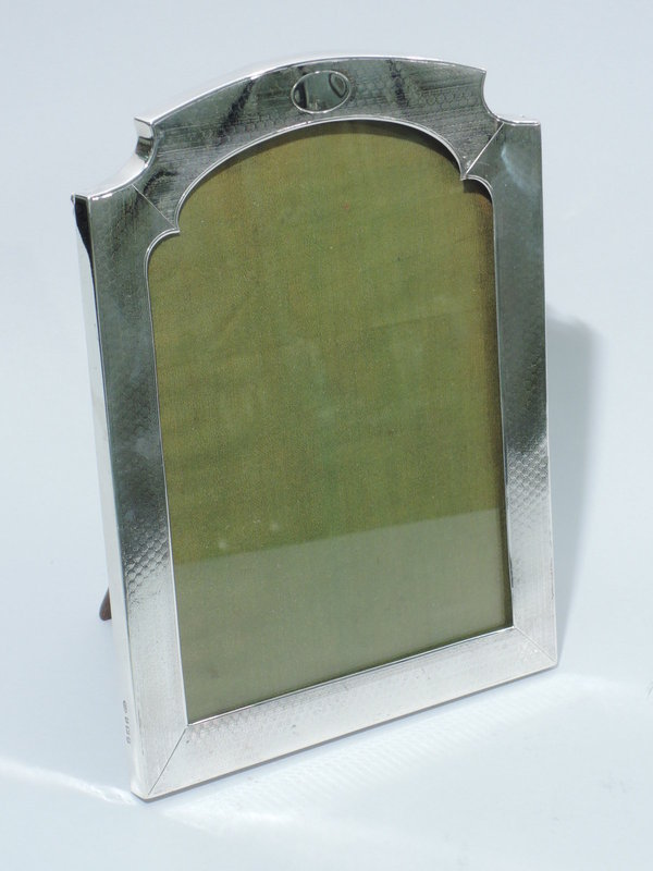 Unusual English Sterling Silver Picture Frame 1918