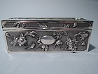 Antique Chinese Export Silver Desk Box by Woshing of Shanghai