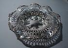 Antique Sterling Silver Pierced Bowl by Redlich