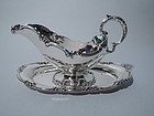 Fancy Sterling Silver Gravy Boat on Stand by International