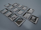 Set of 12 American Modern Sterling Silver Butter Pats C 1930
