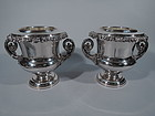 Pair of Antique English Regency Sheffield Plate Wine Coolers C 1820