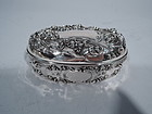 Art Nouveau Antique Sterling Silver Trinket Box