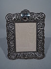 Romantic Antique Sterling Silver Picture Frame by Tiffany