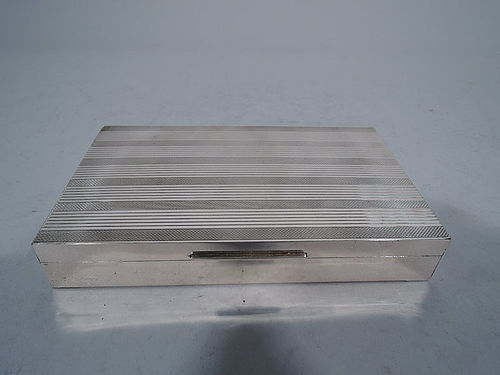 Smart and Sleek Italian Silver Desk Box