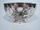 Rare Chinese Silver and Enamel Bowl C 1900