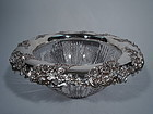 Large Antique American Brilliant Cut Glass & Sterling Silver Punchbowl