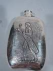 Antique Sterling Silver Golf Flask by Collectible Unger Bros.