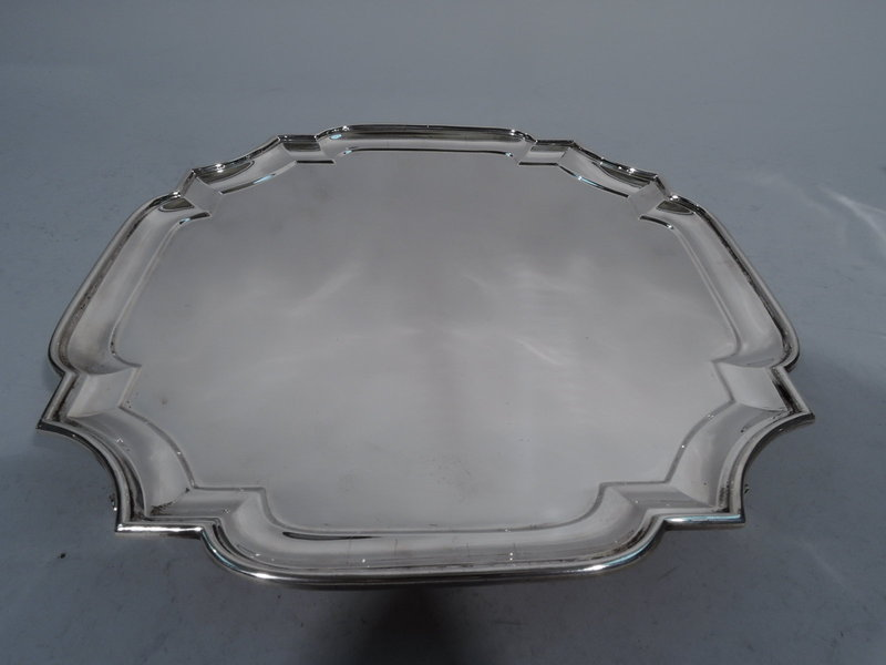Classic Cartouche Sterling Silver Salver Tray 1928