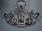 Tiffany Clean and Modern Sterling Silver Coffee and Tea Set