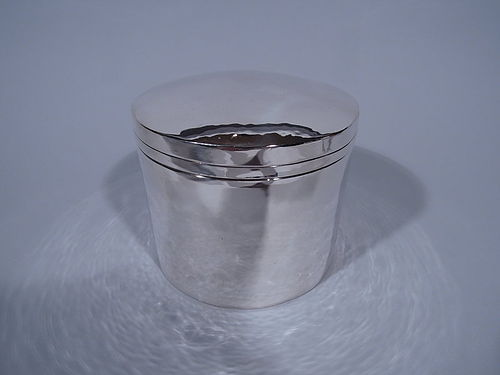 Large Kalo Craftsman Hand Hammered Sterling Silver Box