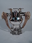 Shiebler Sterling Silver Alpha Trophy Cup with Antler Handles