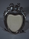 Antique Tiffany Sterling Silver Romantic Heart Picture Frame