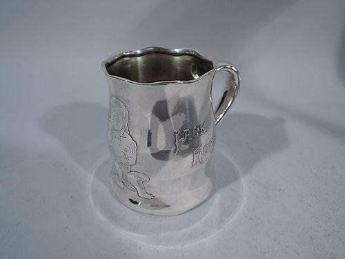 Tiffany Nursery Rhyme Baby Cup Starring Famed Plumb-Eater Jack Horner