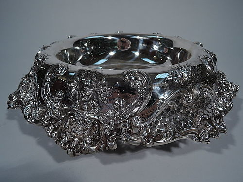 Gilded Age Sumptuous Sterling Silver Centerpiece Bowl by Redlich