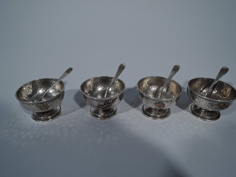 Japonesque Hand-Hammered & Mixed Metal Open Salts by Dominic & Haff