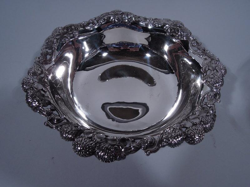 Tiffany Sterling Silver Bowl in Famed Clover Pattern