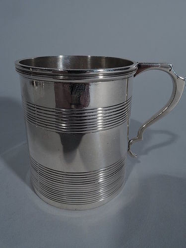 Old Fashioned English Sterling Silver Baby Cup 1919